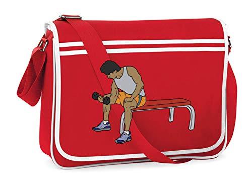 Druckerlebnis24 Schultertasche - Fitnessraum Bank Gewicht Fensterheber - Umhängetasche, geeignet für Schule Uni Laptop Arbeit