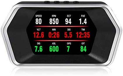 high quality Car lowest Head Up Display, iKiKin OBD2/GPS Dual Systems Digital Car GPS Speedometer with Compass Test Brake Test Fault Code Reader Engine RPM OverSpeed Alarm high quality Water Temperature for All Vehicle outlet sale