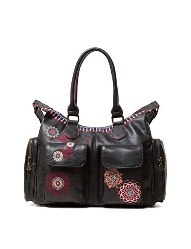 Desigual Chandy London, Borsa Donna, Nero (Negro), 15.5x25.5x32 centimeters (B x H x T)