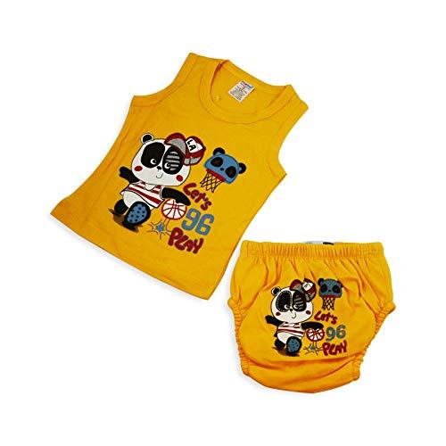 OZYOL Trainerhose Unterhemd Set für Toilettentraining Töpfchentraining - Wiederverwendbare Kleinkinder Windelhosen Lernwindeln Trainerwindeln Baby Unterwäsche (Panda, 110)