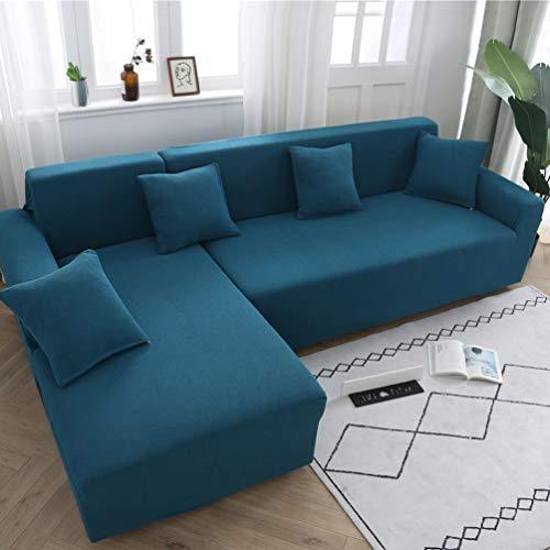 ADGAI 1 Pieza Jacquard Spandex Tramo Alto Funda de sofá sofá Cubierta Protectora de Muebles sofá Suave Salón Covers Cabritos del Animal doméstico,Lakeblue,2seater