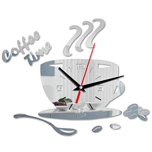 Macabolo 3D DIY Acryl Wanduhr Moderne Küche Home Decor Kaffee Besser Zeit Uhr Uhr Form Nadel Wand Uhr Aufkleber