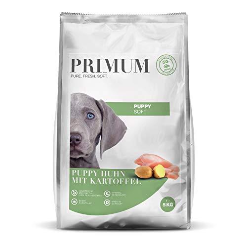 Primum - Soft Puppy Huhn mit Kartoffel - 5 kg - Halbfeuchtes Hundefutter - Getreidefreies Trockenfutter - Hoher Fleischanteil - Optimal verdaulich - Hypoallergen
