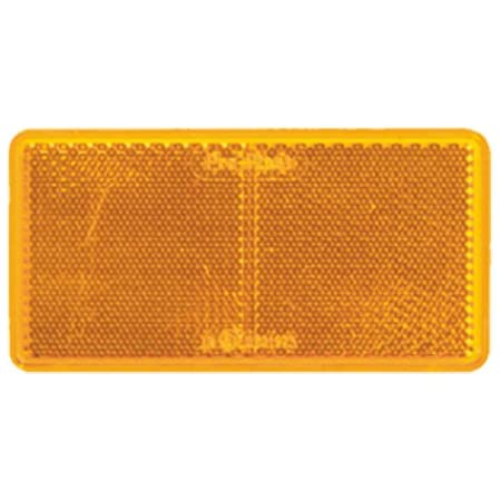 Reflektor Katzenauge Rückstrahler Gelb 122 X 32 5 Mm Selbstklebend Auto