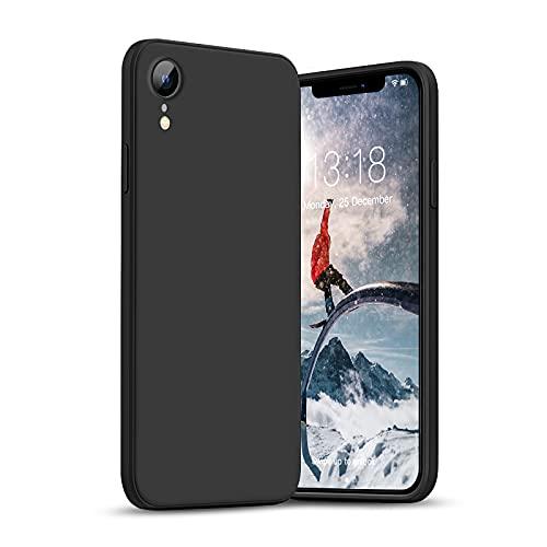 GOODVISH Hülle Kompatibel mit iPhone XR | Ultra dünn Liquid Silicone Hülle | Kameraschutz und Bildschirmschutz | 360° Voll abgedeckte stoßfeste Handyhülle für iPhone XR-6,1 Zoll | Schwarz