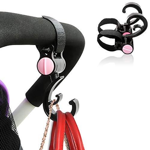 Ganchos para silla de paseo # Gancho multifunción, gancho carrito bebe. Diseño de doble gancho,  peso del rodamiento 20 kg,  duradero y no fácil de romper,  accesorios para cochecito (2 unidades)