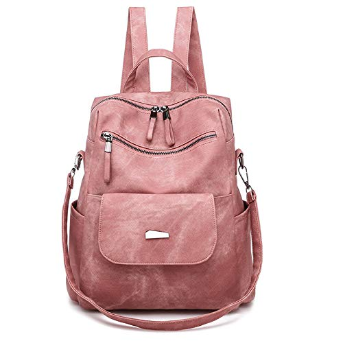 CMZ Women's Backpacks, Large-Capacity pu Backpacks, Fashionable and Popular Retro Women's Bags, Suitable for Various Occasions