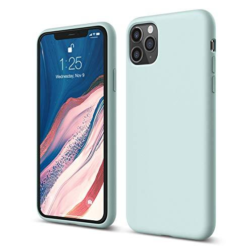 elago iPhone 11 Pro Max Hülle Silikon Hülle Kompatibel mit iPhone 11 Pro Max Handyhülle - Hochwertiges Silikon, Stoßfest, Voller Schutz [3-Layer Struktur], Erhöhte Kante für Display (Baby Mint)