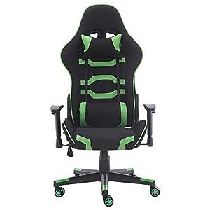 Silla de videojuegos para adultos, adaptable, con reposacabezas y cojín lumbar, silla de ordenador para el hogar…