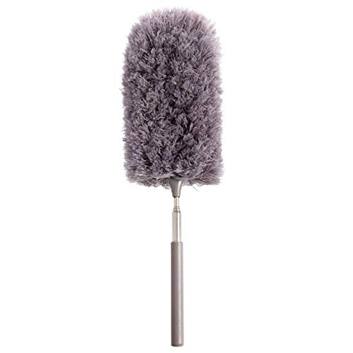 struisvogelveer, plumeau met lange handgreep, stofveer, reiniger, reinigingsgereedschap, stofverwijderaar, huishouden, microvezel, plug, inschuifbaar plug, 32,28 inch.