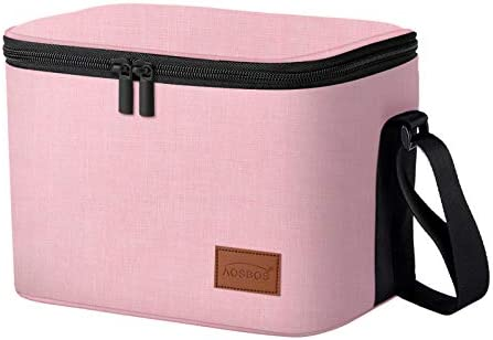 AOSBOS Insulated Lunch Bag Reusable Lunch Box for Women Soft Tote Bag Lunch Cooler with Shoulder product image
