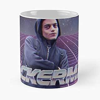 Rami Malek Mr Robot Hackerman Meme - Best Gift Coffee Mugs 11 Oz Father Day