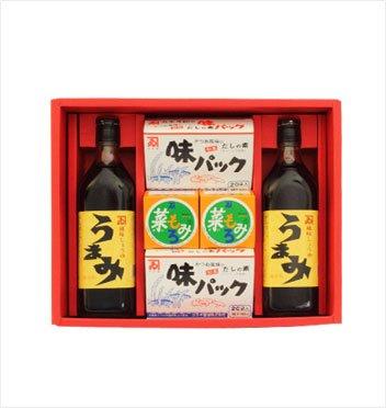 カネイ醤油 うまみ2本・味パック2箱・菜もろみ2箱セット[SA-420]
