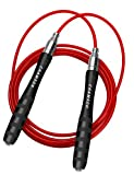 CHAMSON Speed Jump Rope Adjustable Self-Locking Skipping Ropes for Jump Rope Workout, Jump Ropes for...