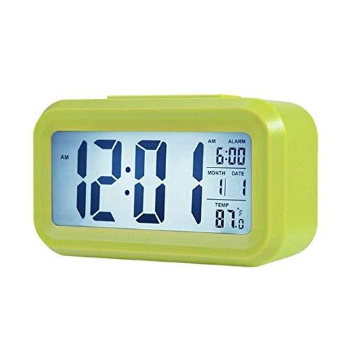 Reloj Despertador Digital Led Estudiante Electrónico con Cabecera Silenciosa Luminoso Reloj Simple Escritorio Personalidad Creativa Voz Perezosa Súper Fuerte