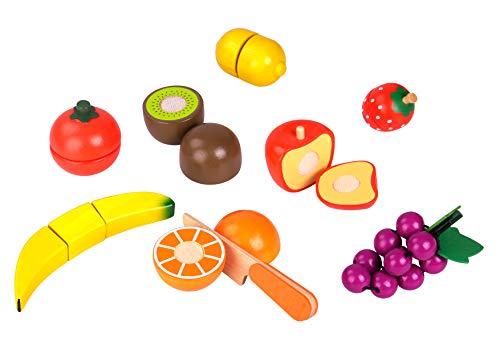 Tooky Toy Fruits en bois assortis, TY894, Multicolore