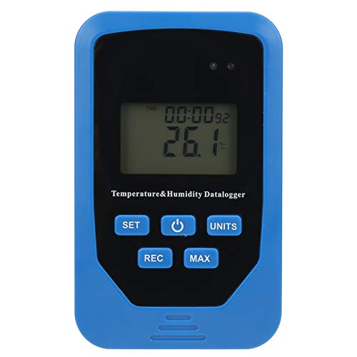 Registrador de temperatura, registrador de datos de humedad, registrador de temperatura USB, registrador de temperatura y humedad portátil, termómetro digital, para laboratorio industrial