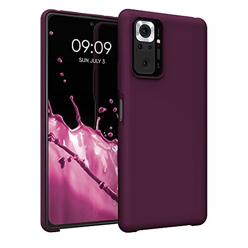 kwmobile Hülle kompatibel mit Xiaomi Redmi Note 10 Pro - Hülle Handyhülle gummiert - Handy Hülle in Bordeaux Violett