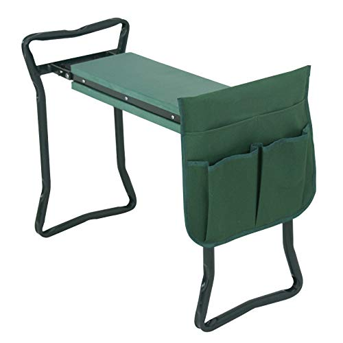 Best Direct Deals Foldable Garden Kneeler and Seat with Bonus Tool Pouch Portable Stool EVA Pad Folding Bench Stool