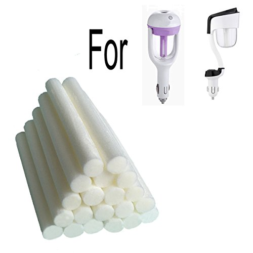 20-Pack Car Diffuser Sponges Refill Sticks Humidifier Filter Wick Replacement, Absorbent sponge sticks, 2.75 X 0.31 Inch for Car Mini Humidifier Ultrasonic Aroma Diffuser