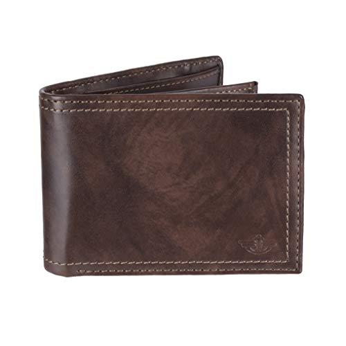 Dockers Men's Leather Traveler Wallet, Brown, One Size