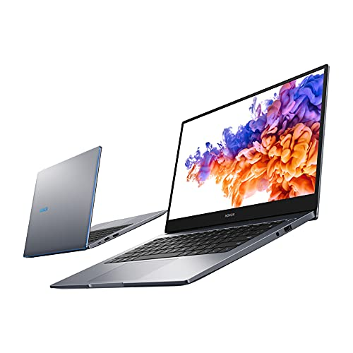 HONOR MagicBook 14 Laptop, 35,56cm (14 Zoll), Full HD IPS, 512 GB PCIe SSD, 8 GB RAM, 11. Gen. Intel Core i5, QWERTZ-Layout, Fingerabdrucksensor, Windows 10 Home - Space Grey