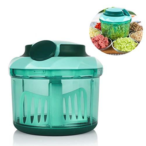 Drawer Chopper, Keuken Multifunctionele Machine Manueel Meat Grinder Household Twister Garlic 1100 ml Mixer Spiralizer Vegetable Slicer