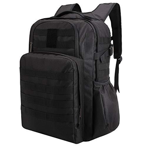 TAIBID Militärischer taktischer Rucksack, wasserabweisend, groß, Armee-Rucksack für 3 Tage, schwarz, Large