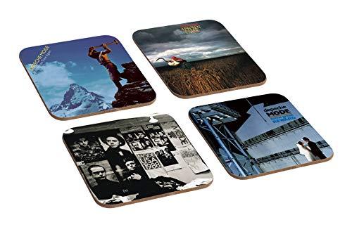 """Mugmart Untersetzerset """"Depeche Mode Album Covers"""", 4 Stück, aus Holz"""