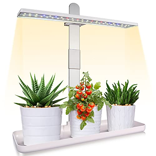 AOBSETY LED Grow Light - Plant Growing Lamps for Indoor Garden Plant with Full Spectrum, Height Adjustable, 18W Grow Lights, Automatic Timer, Ideal for Plant Grow Novice, Various Plants