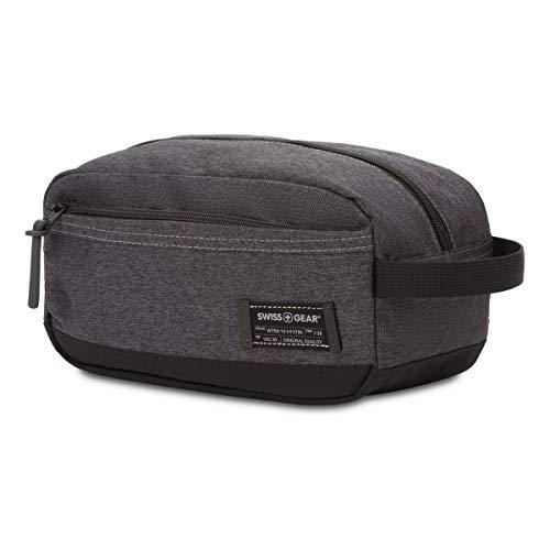 SWISSGEAR Toiletry Bag | Premium Men's and Women's Travel Dopp Kit | Travel Organizer for Bathroom, Gym, and Shower Toiletries – Heather Grey