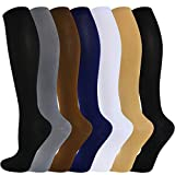 Compression Socks for Women and Men(1/3/6/7 Pairs)-Best for Running,Nursing,Circulation,Recovery &...