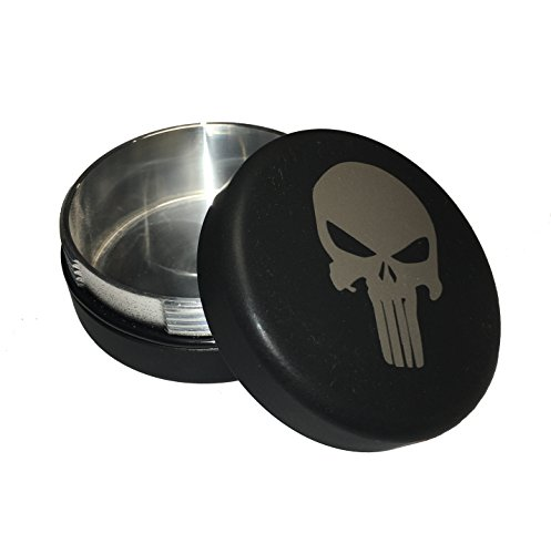 The Breech Can - Tactical Black Punisher Series - An Airtight Interrupted Screw container, Fashioned after an artillery Breech.