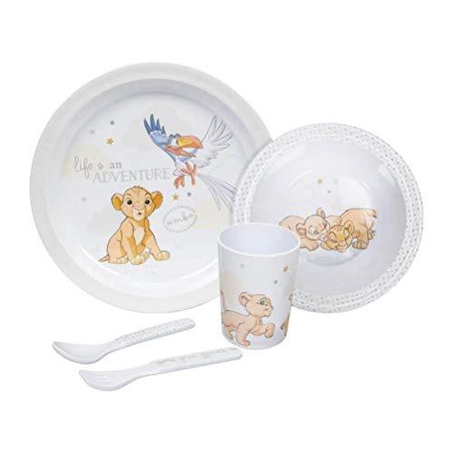 Disney Service für Babys und Kleinkinder 5tlg. - Essen lernen mit Simba dem kleinen Löwen