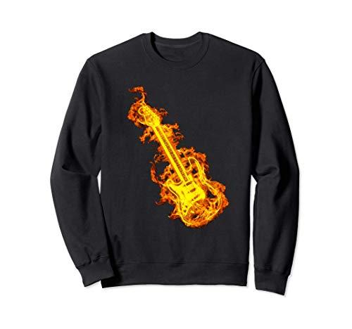Guitarra Eléctrica Sobre El Fuego Regalo Amante De Guitarra Sudadera
