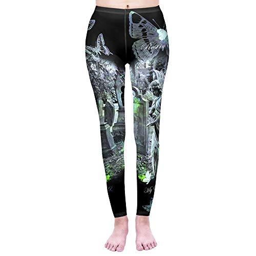 YJKGPZQLZ Yoga Legging de Mujer Gatos mágicos Leggins de impresión Leggings Punk Leggins de Entrenamiento Pantalones de Fitness Delgados