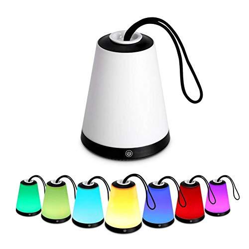 WTKONL Tragbare Nachtlicht Touch Control Vulkan Camping Laterne Für Schlafzimmer Wohnkultur Lampe Bunt