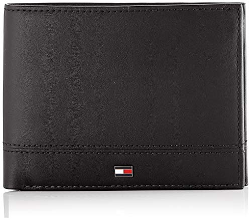 Tommy Hilfiger - Th Essential Extra Cc And Coin, Carteras Hombre, Negro (Black), 1x1x1 cm (W x H L)