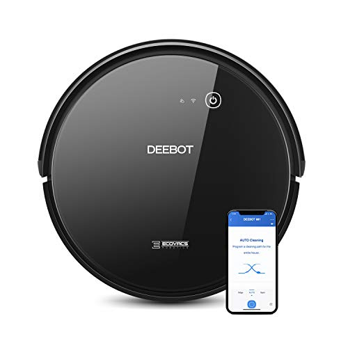 ECOVACS DEEBOT 661 Convertible Vacuuming or Mopping Robotic Vacuum Cleaner with Max Power Suction, Upto 110 Min Runtime, Hard Floors and Carpets, App Controls, Self-Charging, Quiet