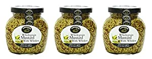 Lakeshore Wholegrain Mustard with Irish Whiskey, 7.2 Ounce (Pack of 3)