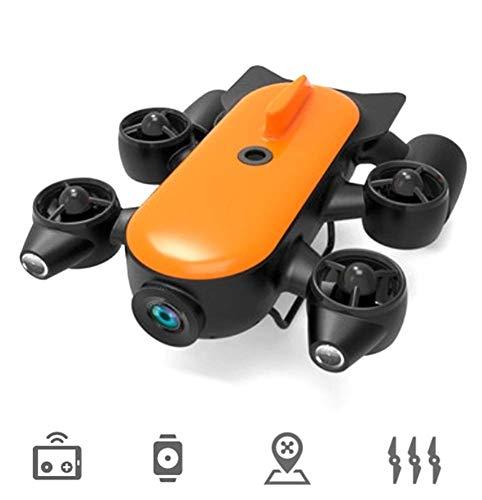 AHELT-J Robot de Drone Subacuático Profesional de 150M / 100M con Cámara de Acción 4K UHD, Control Remoto,Detección Subacuática en Tiempo Real para Trabajos de Visualización, Pesca y Salvamento,100m