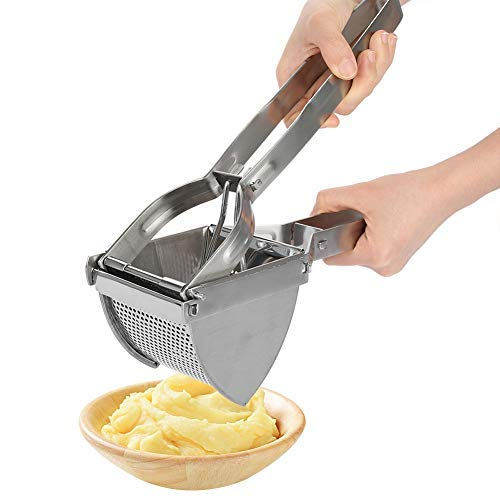 Kartoffelpresse/Kartoffelstampfer aus Edelstahl, Zerkleinerer für Püree, Obst, Gemüse Muster 1