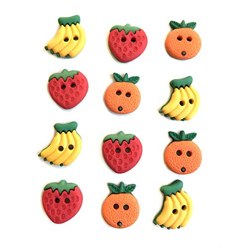 Buttons Galore and More Collection of Novelty Buttons and Embellishments for DIY Crafts, Scrapbooking, Sewing, Cardmaking and Other Projects. Summer Fruit, 36 Buttons