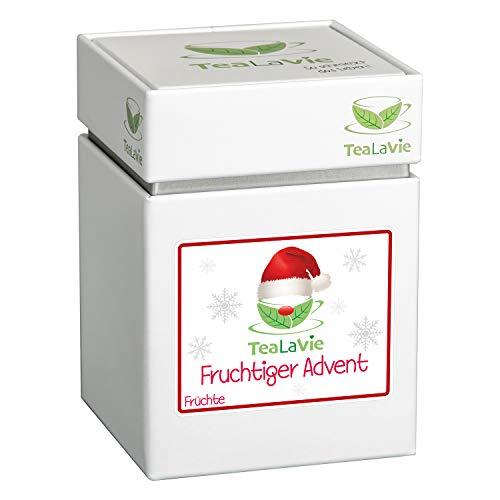 TEALAVIE - Wintertee - Fruchtiger Advent | fruchtige Orange mit feiner Zimtnote | loser Früchte Tee | 100g Dose Früchtetee lose
