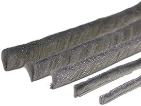 Borstelafdichting per meter grijs van 5 tot 25 mm borstels alle maten insectenbescherming vliegengaas rolladen (4,8 mm voe...