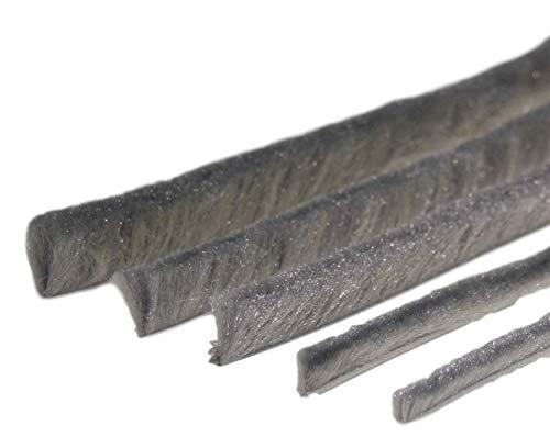 Bürstendichtung Meterware grau von 5 bis 25mm Bürsten alle Größen Insektenschutz Fliegengitter Rolladen (4,8mm Fuß, 6mm)
