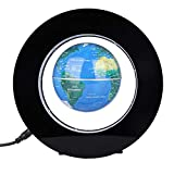 SANON Magnetic Globe, Electronic Magnetic Levitation Floating Globes with LEDs Light Display for Home Decor