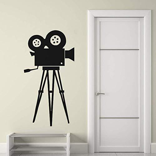 Film Camera Muursticker Film Tool Vinyl Muursticker Cinema Retro Muurschildering Verwijderbare Home Decor Camera Muurposter A 57 * 108cm