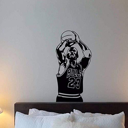 Michael Jordan Vinyl Wandtattoo 23 Basketball Sport Gym Wohnkultur Schlafzimmer Dekor Kinderzimmer Poster Art Wandbild Wandaufkleber 57 * 113Cm
