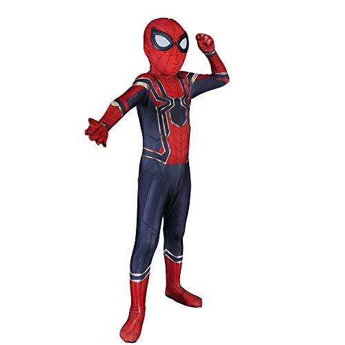 ASPIDER Spiderman Cosplay Kostüm Avengers Eisen Spiderman Kind Erwachsene Kostümfest Kleidung Trikot Film Party Requisiten (Farbe : Childern, größe : L)